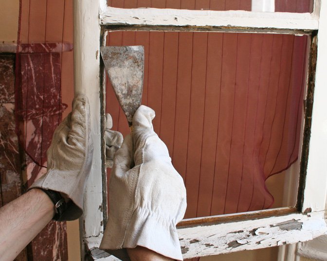 changer une vitre ou remplacer un carreau cass sur une. Black Bedroom Furniture Sets. Home Design Ideas